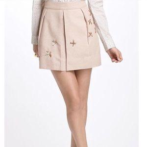 NWT $118 Anthropologie Sequin Bird Skirt Leifnotes